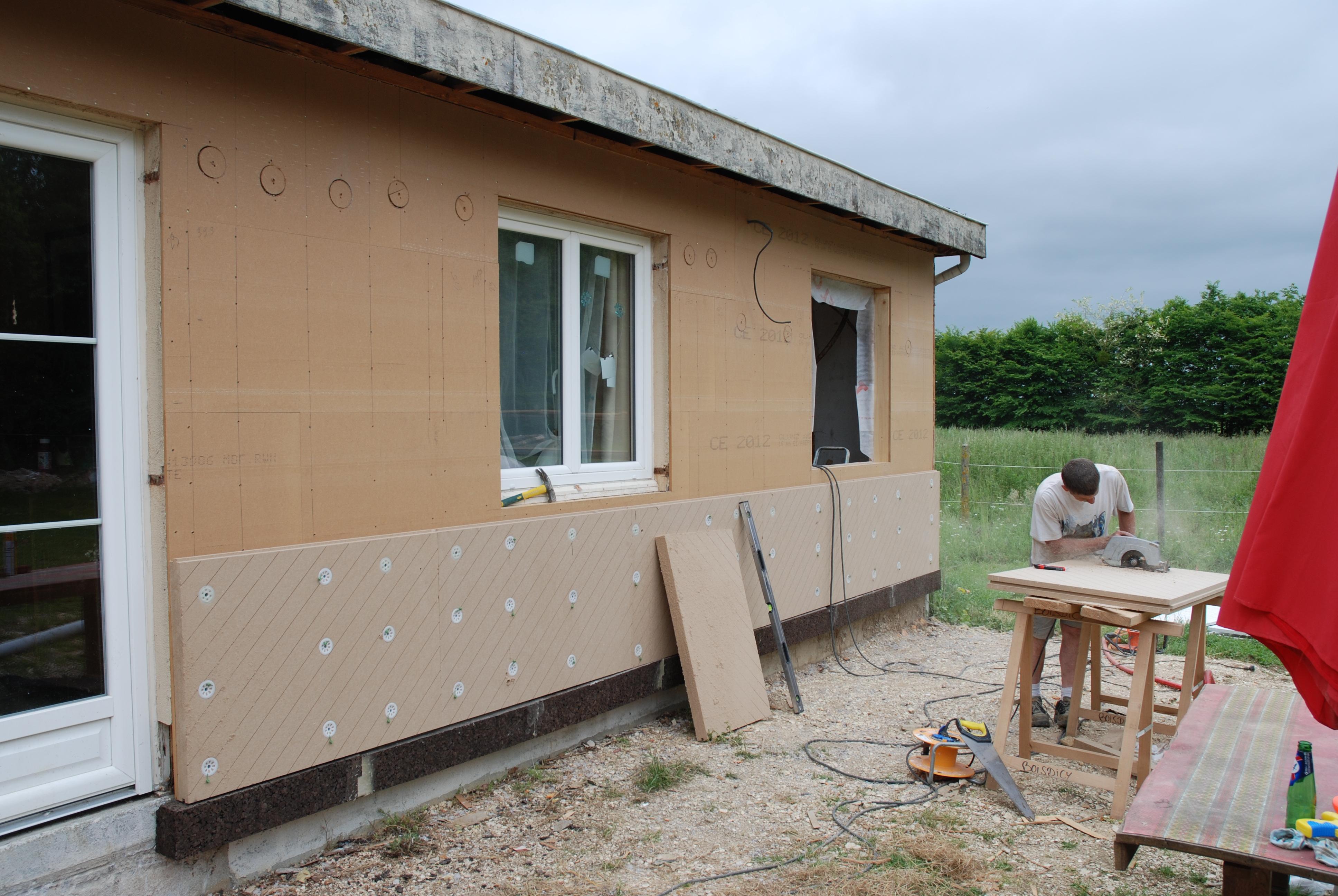 R novation ossature bois avec udispeed systeme udi for Isolant pour exterieur